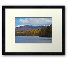 Autumn at the Lake Framed Print