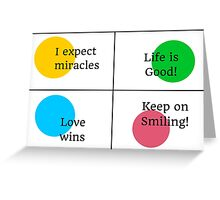 Positive Affirmations collage  Greeting Card