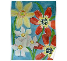 Bold Spring Flowers Poster