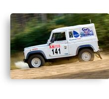 Tempest Rally British Army 4wd Canvas Print