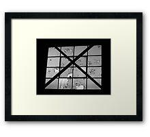Bordeom and Bullets- Black and White Framed Print