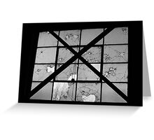 Bordeom and Bullets- Black and White Greeting Card