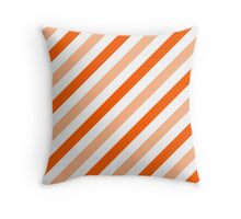 Peach-Diagonal-Tinted-White Two-Tone Diagonal Stripes Throw Pillow