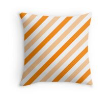 Orange-Diagonal-Tinted-White Two-Tone Diagonal Stripes Throw Pillow