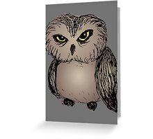 Cranky owl Greeting Card