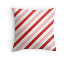 LightPink-Diagonal-Tinted-White Two-Tone Diagonal Stripes Throw Pillow