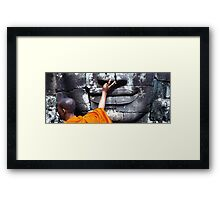Touch, Bayon. Framed Print