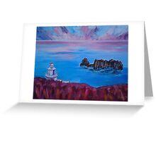 'Point Robert Lighthouse, Isle of Sark' Greeting Card