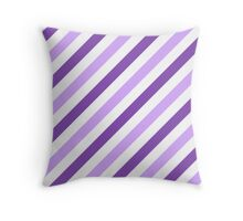 LightPurple-Diagonal-Tinted-White Two-Tone Diagonal Stripes Throw Pillow