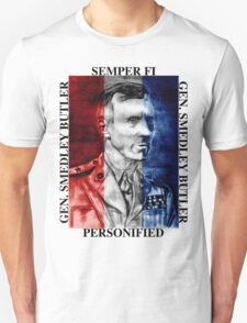 General Smedley Butler: Semper Fi (Always Faithful) Personified, Style 1 T-Shirt