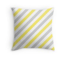 LightGray-3-Diagonal-Tinted-White Two-Tone Diagonal Stripes Throw Pillow