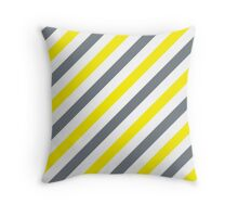 CoolGrey-2-Diagonal-Tinted-White Two-Tone Diagonal Stripes Throw Pillow