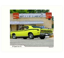 1971 Plymouth Duster 340 Art Print
