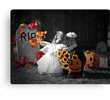 A Halloween Kiss Canvas Print