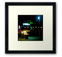 Find me under the light $3.50 Framed Print