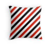 Black-Diagonal-Tinted-White Two-Tone Diagonal Stripes Throw Pillow