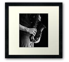 Chris' sax Framed Print