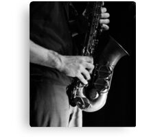 Chris' sax Canvas Print