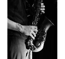 Chris' sax Photographic Print