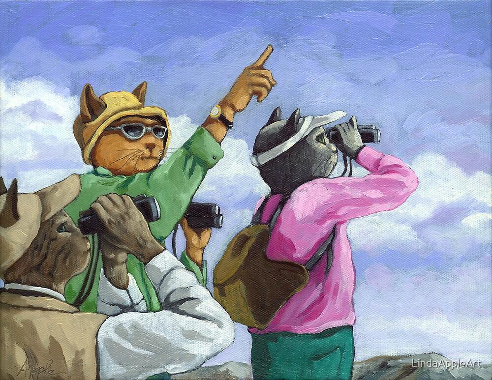 Bird Watchers - Colorado by LindaAppleArt