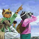 Bird Watchers - Colorado by LindaAppleArt