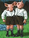 The Tweedle Brothers - fantasy oil painting by LindaAppleArt