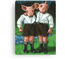 The Tweedle Brothers - fantasy oil painting Canvas Print