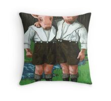 The Tweedle Brothers - fantasy oil painting Throw Pillow