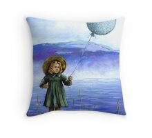 Puffaloon Lake - oil painting Throw Pillow