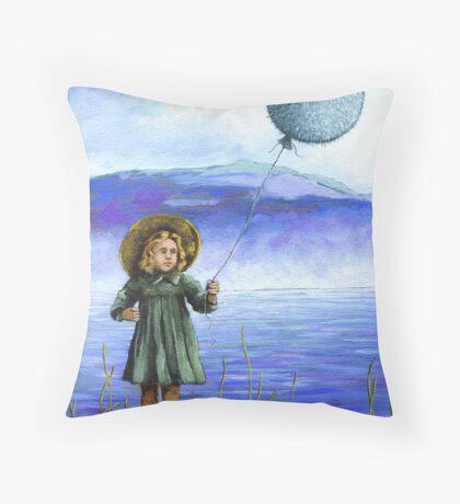 Puffaloon Lake - oil painting Throw Pillow