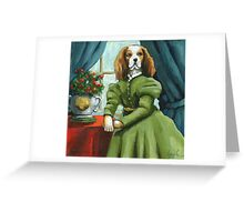 Lady Lenore - Dog portrait - oil painting Greeting Card