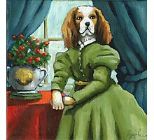 Lady Lenore - Dog portrait - oil painting Photographic Print