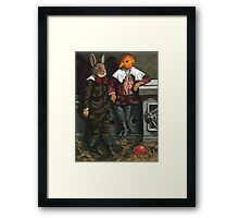 Friends - fantasy oil painting Framed Print