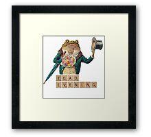 Toad Evening! Framed Print