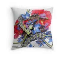 Edible flowers, Throw Pillow