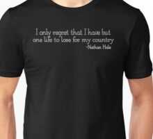 Nathan Hale Quote Unisex T-Shirt