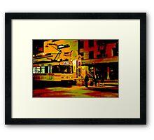Downtown Metro Framed Print