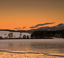 Frozen Dusk on Lake Rieg by Kasia-D