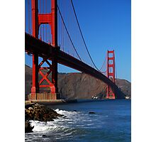 Golden Gate Waves Photographic Print