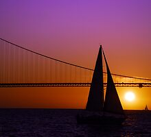 Sailboat Sunset on the Bay by Benjamin Padgett