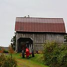 Barn and Tractor in Hayters Gap, Virginia  by Linda Costello Hinchey