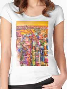 Bridge to sunset Women's Fitted Scoop T-Shirt