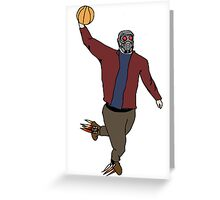 Star-Lord Wins The Intergalactic Hoops Tourney Greeting Card