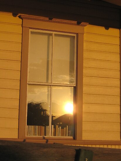 Sunset Reflecting in the Window by jsmusic