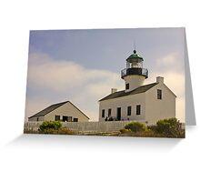 Old Point Loma Lighthouse San Diego, California Greeting Card