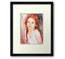 Tamsin, Pastel Portrait Framed Print