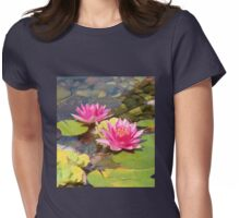 Lovely Garden Pond Womens Fitted T-Shirt