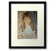 Josslyn, Pastel Portrait  Framed Print