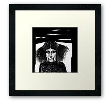 Black Window Framed Print
