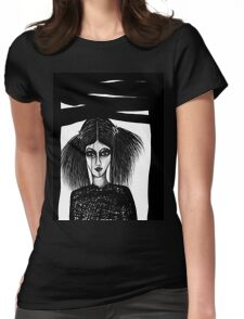 Black Window Womens Fitted T-Shirt